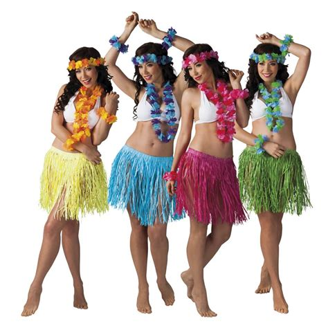 Hawaii Set tropische hawaii set 4 delig feestbazaar nl