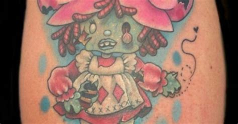 zombie fied strawberry shortcake tattoo