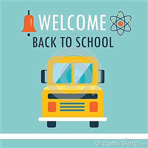back to school design template welcome back to school background flat design template