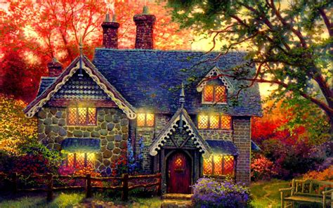 beautiful cottage widescreen high definition