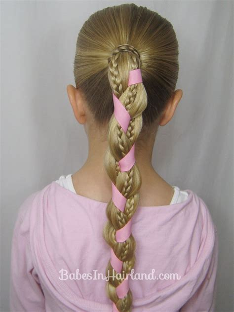 easy hairstyles ribbon braids and ribbon hairstyle babes in hairland