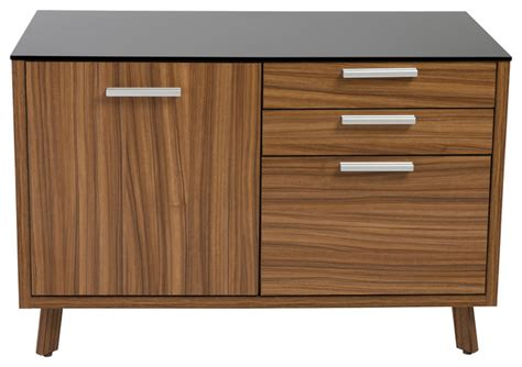 Walnut And Black Sideboard hart sideboard black and walnut contemporary filing cabinets by style