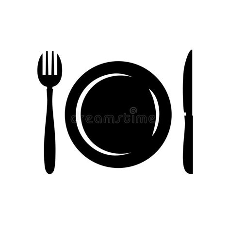 cutlery logo cutlery symbol stock vector image of frame concept