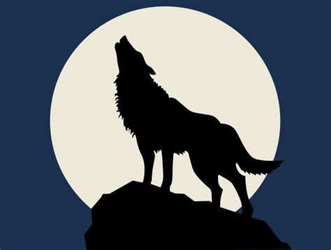 Wolf howling at the full moon one writer s way