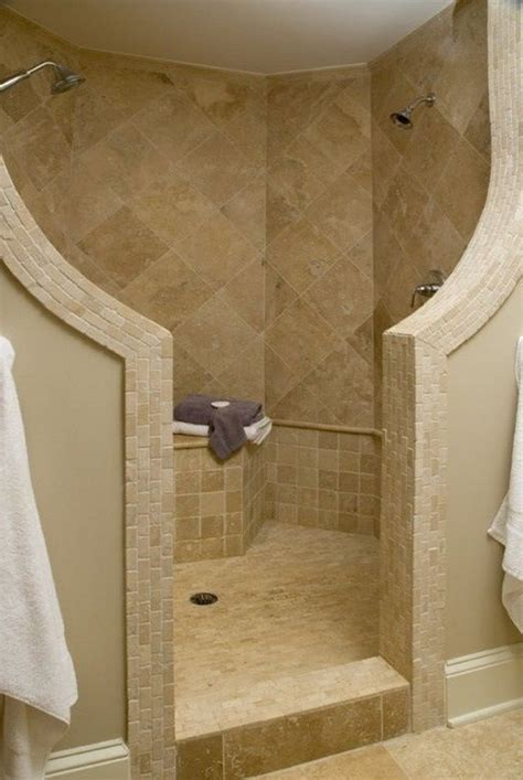 Depiction Of Modern And Classic Walk In Shower Without Showers Without Doors