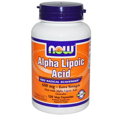 acido lipoico alimenti alpha lipoic acid capsule60 now antiossidante a base