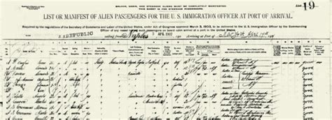 Immigration Search By Name About Passenger Search The Statue Of Liberty Ellis Island