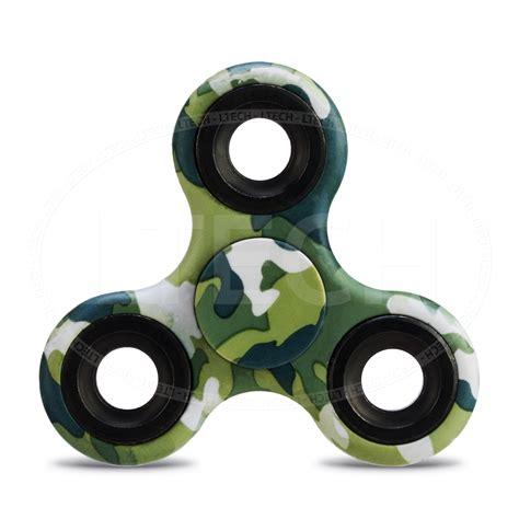 Spinner Blue Army fashionable fidget finger tri spinner desk gadget focus concentration ebay