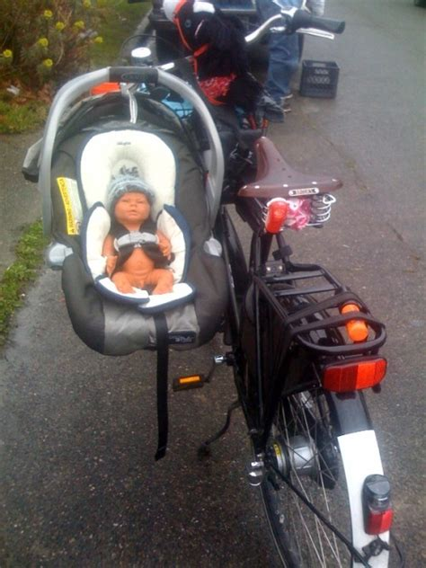 infant seat for bike totcycle family biking baby on bike breakthroughs