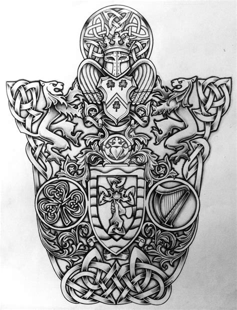 Celtic Coat Of Arms By Tattoo Design On Deviantart Celtic Tree Of Arm