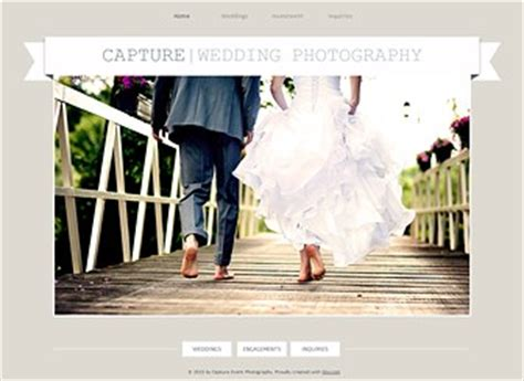 html website templates for photography wix