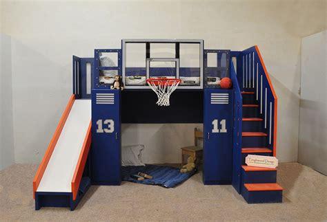 Ultimate Bunk Beds The Ultimate Basketball Bunk Bed Backboard Slide And More