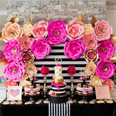 hot pink themes kate spade themed 10th birthday party for angelina paper
