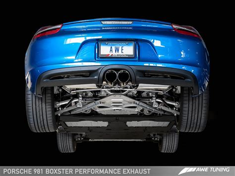 Porsche Boxster S Performance by Awe Tuning Porsche 981 Boxster S Performance Exhaust