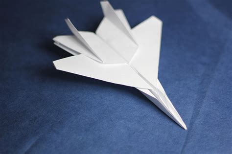 How To Make A Paper Jet Fighter Step By Step - origami f15 jet fighter flickr photo