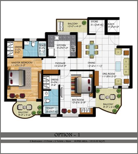 2 bhk home design layout 2 2 1 bhk flats in zirakpur 2 bhk flats chandigarh 2