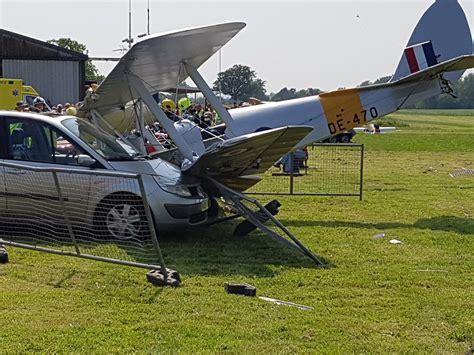 scow moth for sale spectator taken to hospital after tiger moth biplane