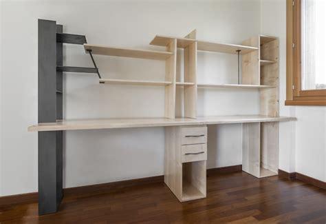 scrivanie in legno grezzo scrivania intera scrivania doppia i acero e ferro