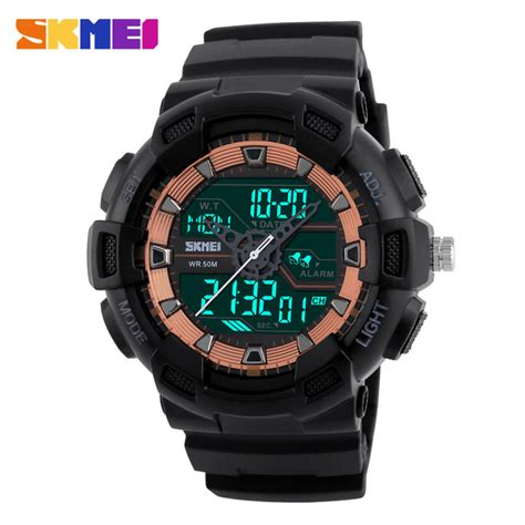 Jam Tangan Skmei 1155 Waterproof Digital Analog 100 Original Murah skmei jam tangan digital analog pria 1189 black jakartanotebook