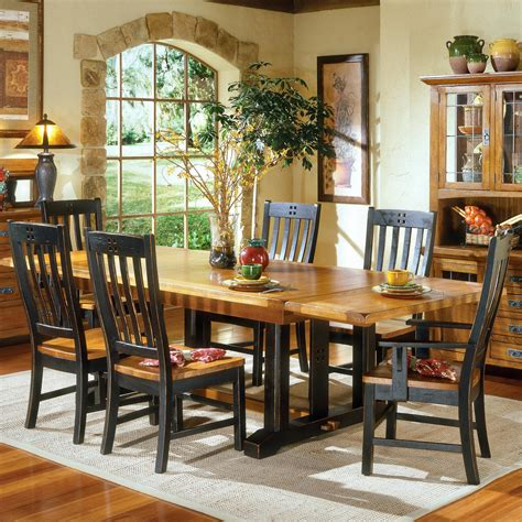 intercon rustic mission refectory dining table sheelys furniture appliance dining room