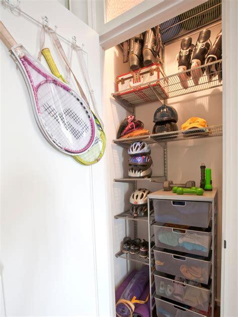 Garage Organization Ideas For Sports Equipment Garage Sports Gear Storage Hgtv