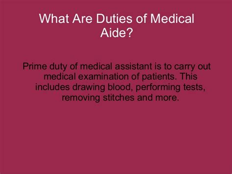 what duties do medical assistant have to carry out