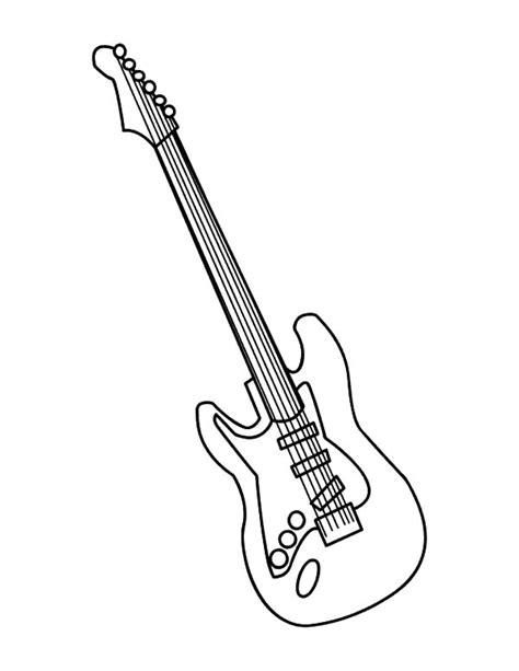 guitar coloring pages guitar colouring page pencil and in color