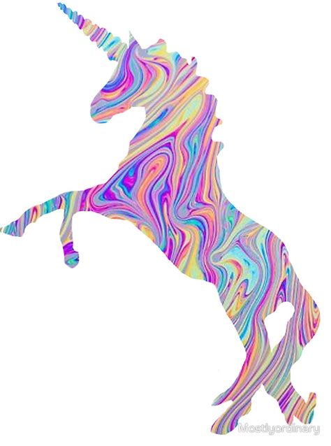 rainbow oil spill unicorn sticker oil spill