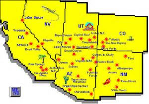 south west america map usa southwest map