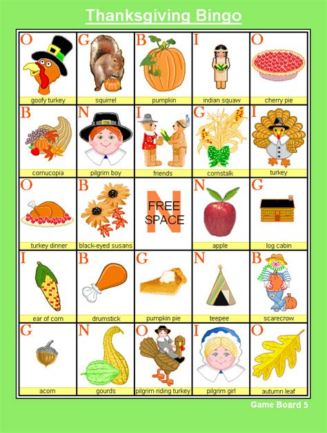 free printable thanksgiving picture bingo cards 8 best images of printable thanksgiving bingo game