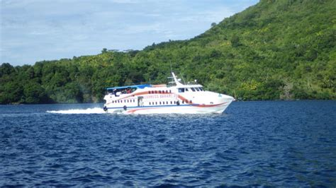 fast boat ambon banda getting to banda islands for diving with dive bluemotion