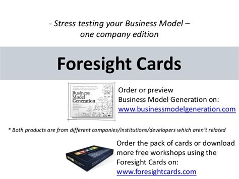 stress test card template stress testing a business model canvas foresight workshop