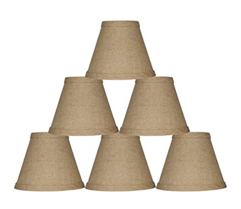 Clip On Chandelier L Shades Urbanest Chandelier L Shade 6 Inch Hardback Clip On Burlap Set Of 6 Ebay