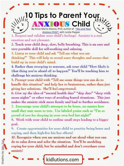 to one coping strategies for a single parent with books free printable 10 tips to parent your anxious child