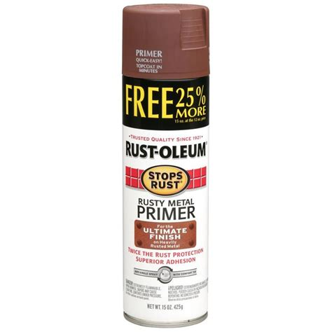 shop rust oleum 12 oz metal primer flat spray paint at lowes