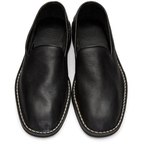 Maison Margiela Loafer lyst maison margiela black babouche loafers in black for