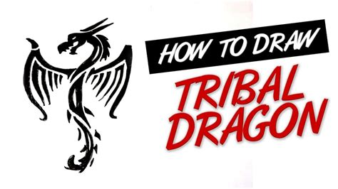 learn how to draw a dragon tattoo tattoos step by step how to draw tribal dragon tattoo design 14 youtube