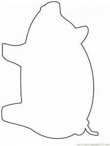 pig template pig pattern use the printable outline for crafts