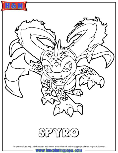 Giants Magic Series2 Spyro Coloring Page H &amp M sketch template