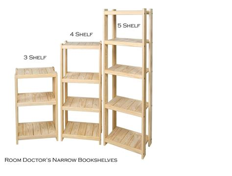 solid wood bookshelf size quot narrow quot 19 inch width