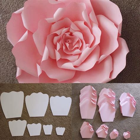 diy paper flowers craft here are the templates that are used to make a beautiful large flores pattern