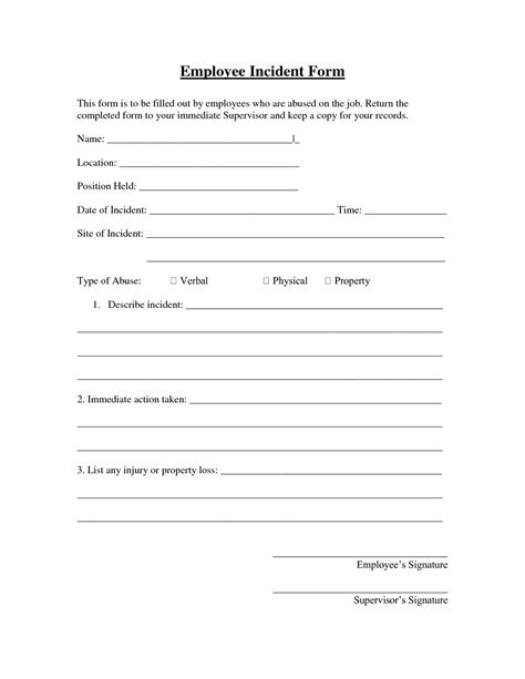 best photos of workplace incident report form template