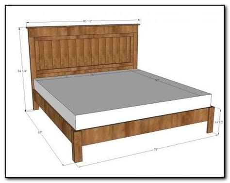 measurements for a size bed frame size bed frame dimensions for the home