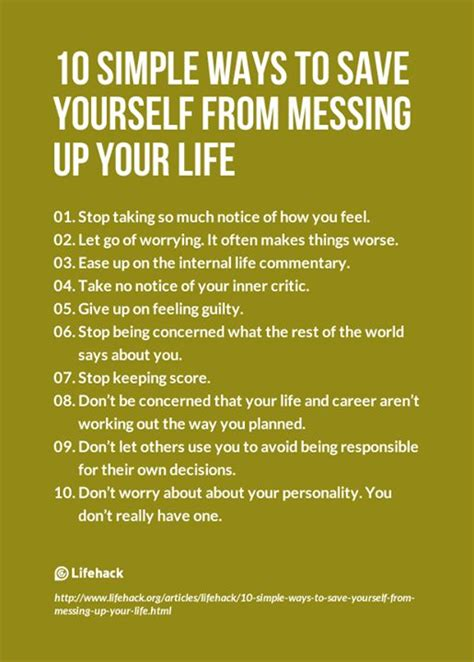 the on how to yourself up and save the world books 10 simple ways to save yourself from messing up your