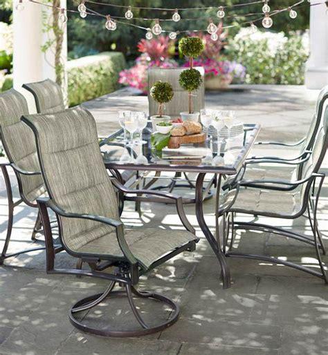 hampton bay statesville rectangular glass patio dining