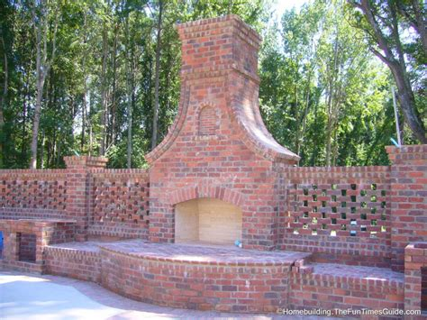 Backyard Brick Fireplace by An Outdoor Fireplace A Focal Point For Entertaining
