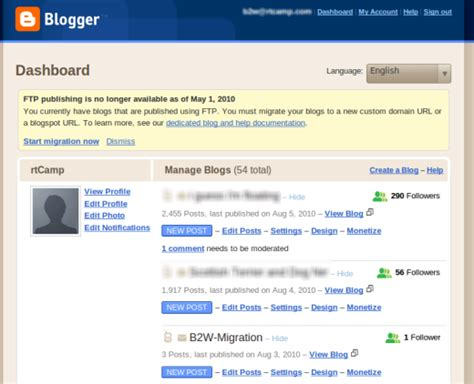 blogger dashboard blogger dashboard blogger to wordpress1 blogger to wordpress