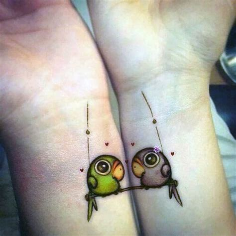 matching couple bird tattoo creativefan