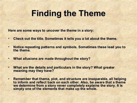 theme main idea vs summary theme the theme of a story is the