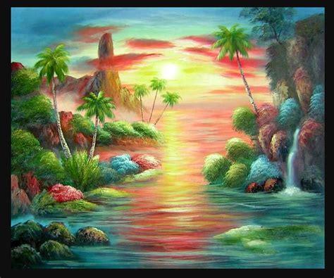 cara membuat lukisan abstrak dengan cat air 21 sketsa lukisan pemandangan pantai menakjubkan koleksi